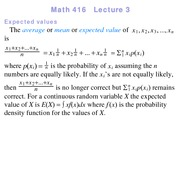 Lecture 3 on Probability and Statistics