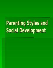 Parenting Styles and Social Development.ppt