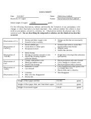 Copper Reactions Data & Report Sheet.docx
