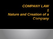 CLaw - LECTURE 3 Constitution of a company