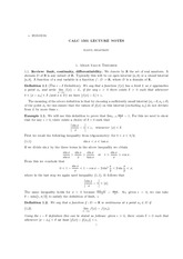 Calculus 1501B Class Notes Limits&mean value theorem