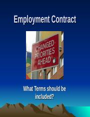 Class 3 - chapter 4 Employment Contract (21 slides) (1).ppt
