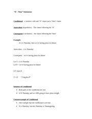 Proofs- If-Then Statements Notes