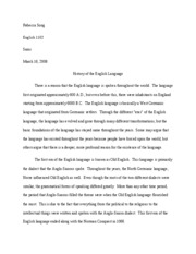 history of english research paper