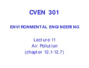 11_CVEN 301_Lecture 11_Air Quality