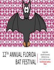 12th Annual Florida bat festival