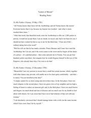 Letters of Mozart Reading Notes