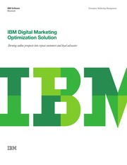 IBM Digital Marketing Optimization Solution
