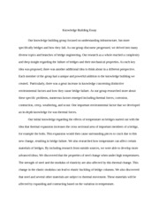 Knowledge Building Essay