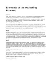 Elements of the Marketing Process.docx