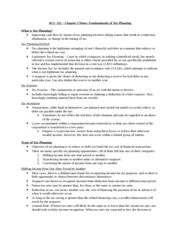 ACC 522 - Chapter 2 Notes