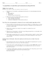 Printables Conceptual Physics Worksheets chapter heat worksheet 40c water 3 what will be the final 5 pages examview conceptual physics circular motion and gravitation practice exam 2010 2011
