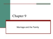 Blackboard ch 9 Marriage and Family