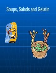 Lecture 9 - Soups and Salads2