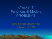 Problems of Chapter1 - Function