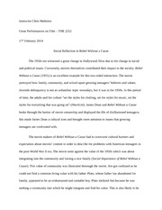 a rebel without a cause essay example