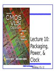 Lecture 10 packaging power and clock