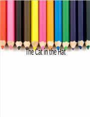 Cat in the Hat Lesson Plan ppt
