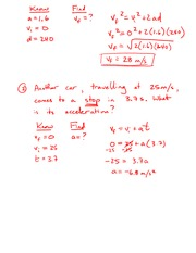 PHYSICS 11 Acceleration Notes