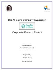 Dar Al Dawa Company Evaluation - Corporate Finance Project (1)