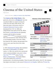 Cinema of the United States - Wikipedia, the free encyclopedia