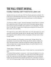 WSJ Post Office article