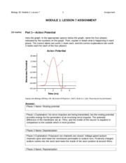 Lesson 7 Action Potential