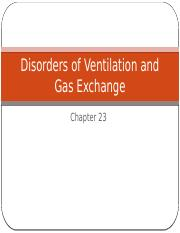 Ch 23 Disorders of Ventilation and Gas Exchange (4)
