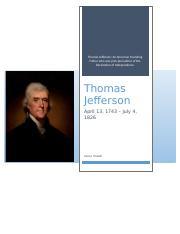 Thomas jefferson research paper