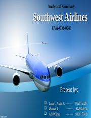 Analytical Summary Southwest Airlines.ppt