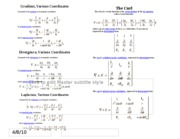 Vector Calc Quicksheet (1sheet)