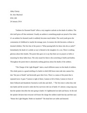 Anthem&Charge Essay