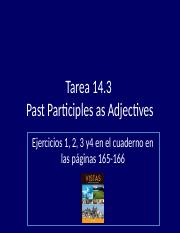 Tarea answers  14.3 Past Participles as adjectives (3)