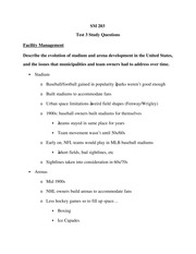 Exam Guide Review Test 3 Facility Management