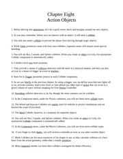 Chapter Eight - Action Objects