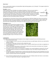 Topic 1 Plant Science Notes