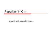 Repetition in C++