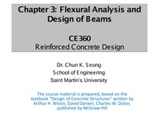 CE360-Chapter 3 - Flexural Analysis and Design of Beams