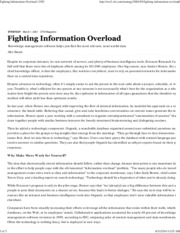 Fighting Information Overload