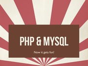 Lecture 7 - Using SQL with PHP