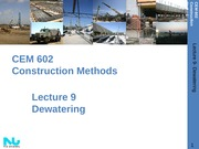 Lecture 9- Dewatering