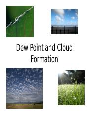 Dewpoint and Cloud Formation Lab 6-4 Notes.ppt