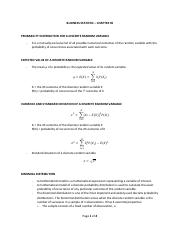 Business Statistics - Chapter 05