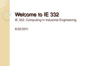 w1_1_Welcome to IE332_F11