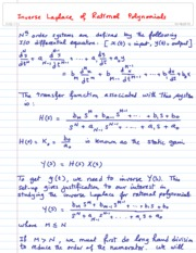 Inverse Laplace of Rational Polynomials