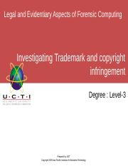 LEAFC UCTI Lecture 07 Investigating Trademark and copyright infringement