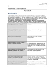 eng 102 research plan Statement of mission and course goals recent research into the role of first-year writing reveals that first english 102: introduction to college writing and.