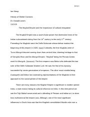Mughal Empire Research Paper Ian Kemp Final Draft 1