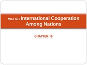 Chapter 10 International Cooperation Among Nations - Lecture Material