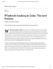 Wholesale banking in India_ The next frontier _ McKinsey & Company.pdf